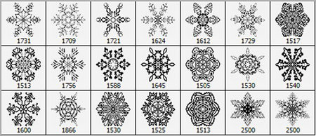 Brushes - Snowflakes
