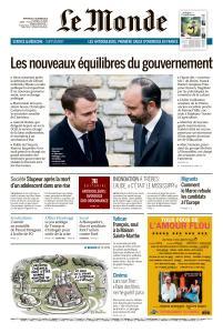 Le Monde du Mercredi 17 Octobre 2018