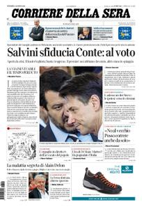 Corriere della Sera – 09 agosto 2019