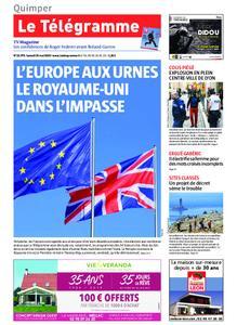 Le Télégramme Quimper – 25 mai 2019