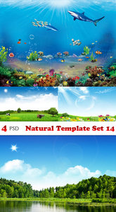 PSD - Natural Template Set 14