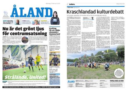Ålandstidningen – 17 februari 2020