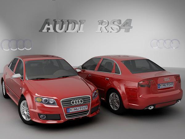 3D model Audi RS4