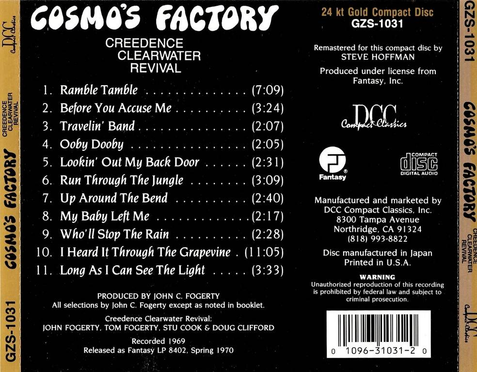Creedence Clearwater Revival - Cosmo's Factory (1970) {1993, 24 k Gold Disc}