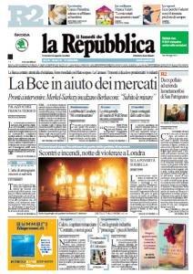 La Repubblica (08-08-11)