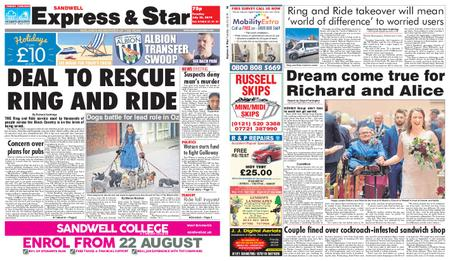Express and Star Sandwell Edition – July 23, 2019