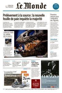 Le Monde du Mercredi 6 2018