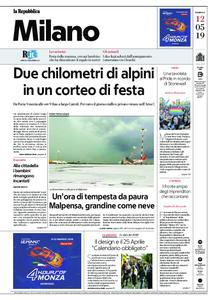 la Repubblica Milano – 12 maggio 2019