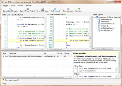 VBConversions VB dotNET to CSharp Converter 4.00