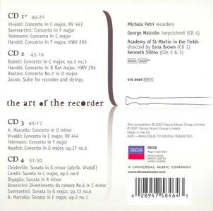 Michala Petri - The art of the recorder: Vivaldi, Handel, Telemann, Sammartini [4CDs] (2007)