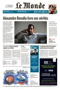 Le Monde du Vendredi 27 Juillet 2018