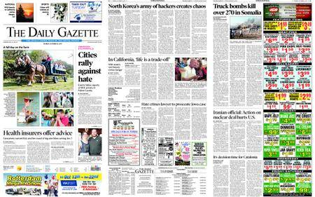 The Daily Gazette – October 16, 2017