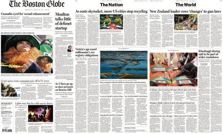 The Boston Globe – March 18, 2019