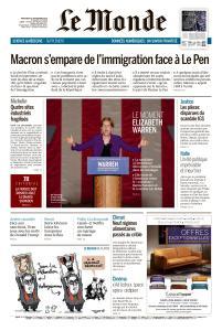 Le Monde du Mercredi 18 Septembre 2019