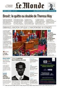 Le Monde du Mercredi 11 Juillet 2018