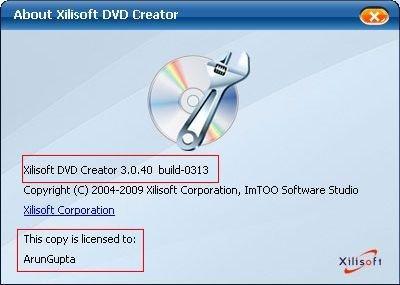 Xilisoft DVD Creator 3.0.40.0313
