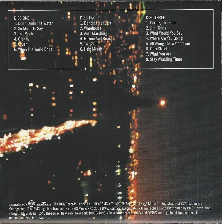 Dave Matthews Band - The Central Park Concert (2003) {3CD