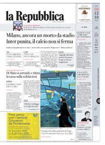 la Repubblica - 28 Dicembre 2018