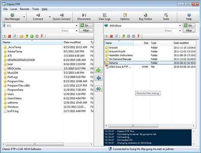 Classic FTP File Transfer Software Plus 2.38