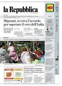 la Repubblica - 29 Giugno 2018
