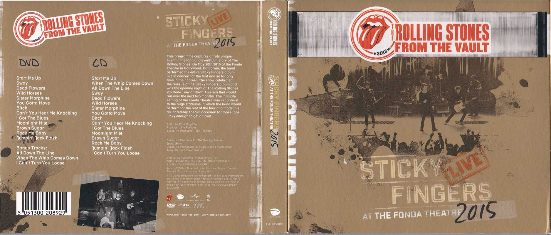 The Rolling Stones - Sticky Fingers: Live At The Fonda Theatre 2015 (2017) [CD, DVD & Blu-ray]