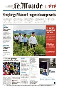 Le Monde du Mardi 30 Juillet 2019