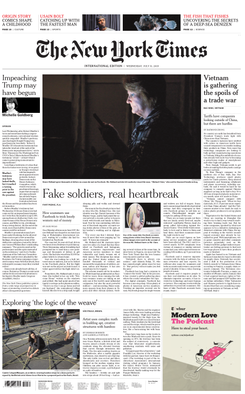 International New York Times - 31 July 2019
