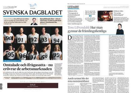 Svenska Dagbladet – 27 december 2017