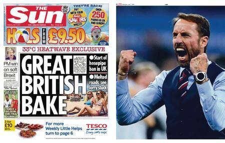 The Sun UK – 07 July 2018