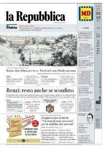 la Repubblica - 27 Febbraio 2018