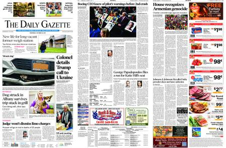 The Daily Gazette – October 30, 2019