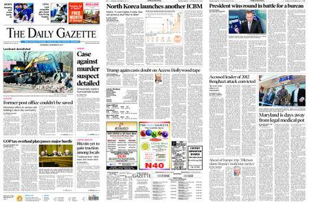 The Daily Gazette – November 29, 2017