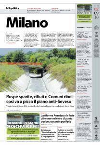 la Repubblica Milano - 2 Settembre 2018