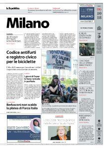 la Repubblica Milano - 6 Ottobre 2018