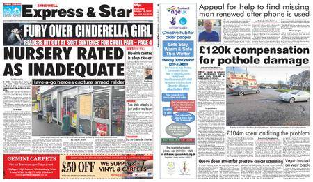 Express and Star Sandwell Edition – October 25, 2017