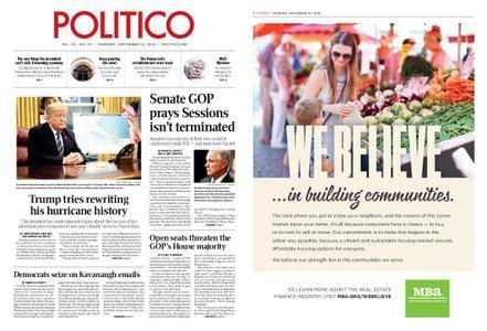 Politico – September 13, 2018