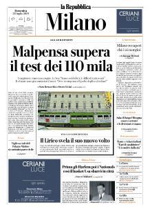 la Repubblica Milano - 28 Luglio 2019