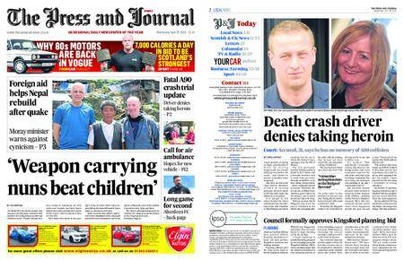 The Press and Journal Moray – April 25, 2018
