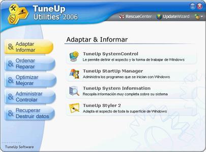 TuneUp 2006  v.5.0.2335 ( versión en Español/ Spanish version)