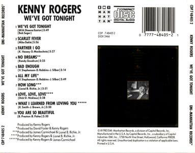 Kenny Rogers - We've Got Tonight (1983) [1990, Reissue]