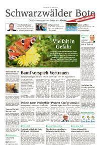 Schwarzwälder Bote St. Georgen, Triberg, Furtwangen - 22. Mai 2018