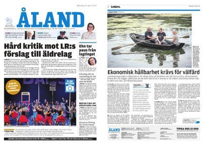 Ålandstidningen – 29 april 2019