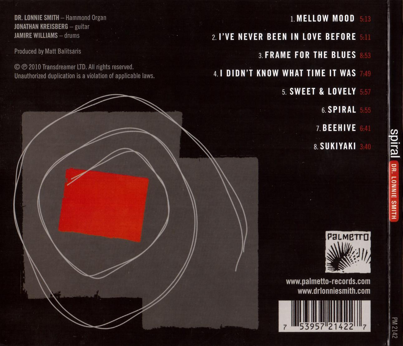 Dr. Lonnie Smith - Spiral (2010) {Palmetto PM 2142}