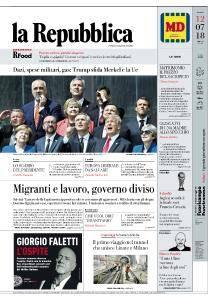 la Repubblica - 12 Luglio 2018