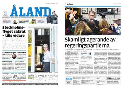 Ålandstidningen – 20 oktober 2018