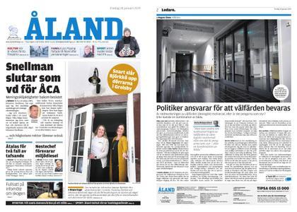 Ålandstidningen – 18 januari 2019