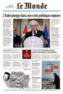 Le Monde du Mardi 29 Mai 2018