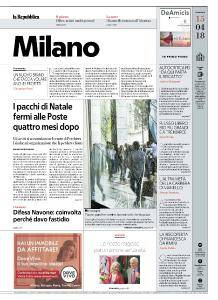 la Repubblica Milano - 15 Aprile 2018