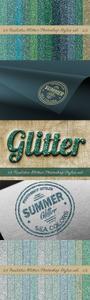 24 Realistic Glitter Photoshop Styles asl - 29760