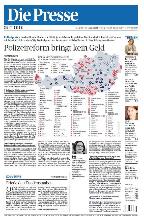 Die Presse, 29.  Januar 2014